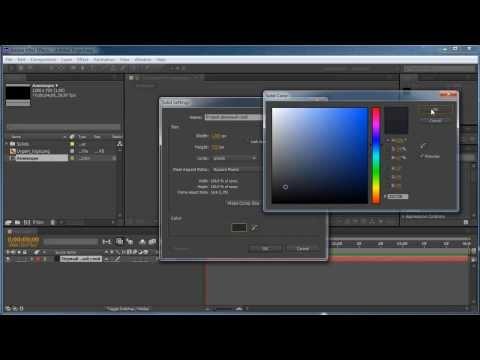 Анимация из статичного слоя видео-уроки After Effects урок 2