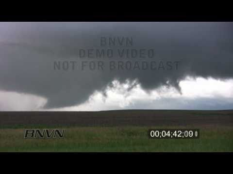 6/20/2009 Shields, KS tornado and wall cloud stock video