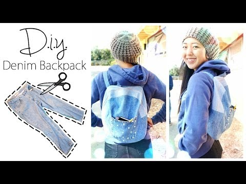 DIY Upcycled Denim Backpack