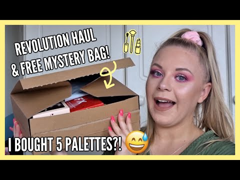 REVOLUTION HAUL & FREE MYSTERY BAG!... I BOUGHT 5 PALETTES