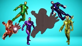 Super Hero Iron Man Wrong Shadow#learn color for Toddler Kids