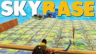 BUILDING THE WORLD'S BIGGEST SKYBASE | Fortnite Battle Royale