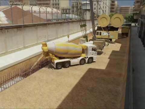 LAV Madrid-Barcelona. Tramo: Falso túnel Sants-Sagrera. Proceso constructivo del falso túnel de salida de la estación de Sants. Cliente: SACYR - ADIF (Jul. 2009)