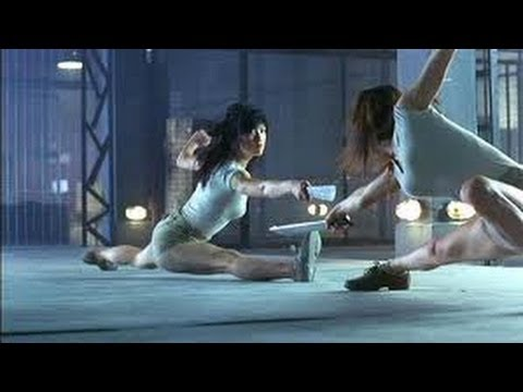 Naked Weapon (2002) Movie Clips Cage Fight Scene - Maggie Q video
