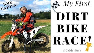 My First Dirt Bike Race!! @CaidenBmx