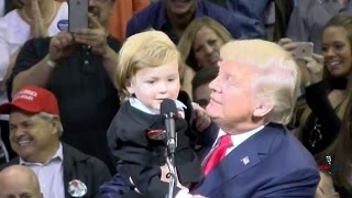 Little Trump Look-Alike Comes on Stage with Donald in Wilkes-Barre 10/10/16