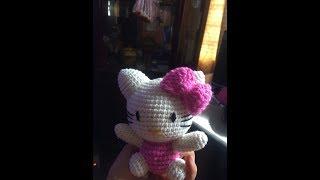 Hướng dẫn móc thú bông mẫu 2 – Mèo kitty – ANHGUYEN HANDMADE (PATTERN CROCHET KITTY)