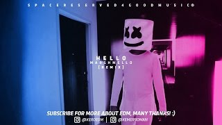 Hello - Marshmello Remix ft Adele  [ Unofficial Video Music ]