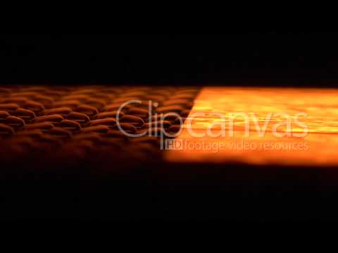 Solar power wafer production line stock footage