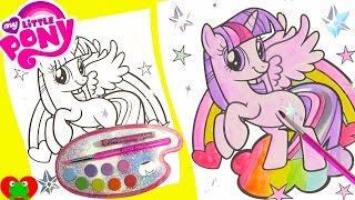My Little Pony Twilight Sparkle Water Coloring Page with LOL Doll Surprises