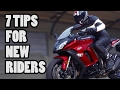 7 Helpful Tips For New Motorcycle Riders