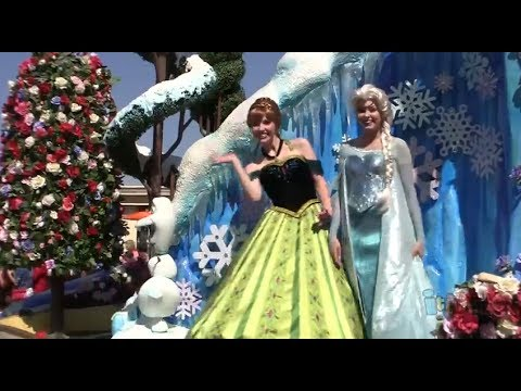 "FULL ""Frozen"" Festival of Fantasy Parade at Magic Kingdom, Walt Disney World with Anna and Elsa"