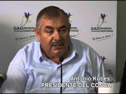 RUEDA DE PRENSA: PRESIDENTE DEL CONGA ANTONIO KUBES Y PREFECTO DE MORONA SANTIAGO  MARCELINO CHUMPI
