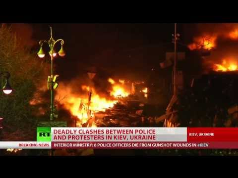 Kiev plunges into deadly violence