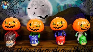 PJ MASKS Halloween Adventure Learning Color disney cars Play toys video for kids