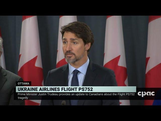 PM Trudeau Announces Compensation for Families of Flight 752 Victims