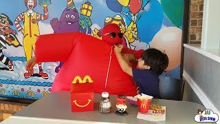 Family Fun Time at McDonald's Indoor Playground! Happy meal toy surprise with Jai Bista Show