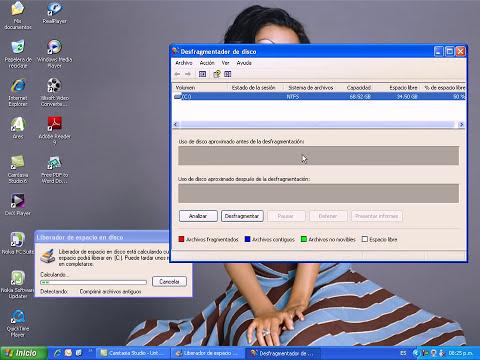 Como desfragmentar y liberar espacio en mi PC