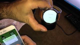 How to pair Moto 360 to iPhone / Unboxing