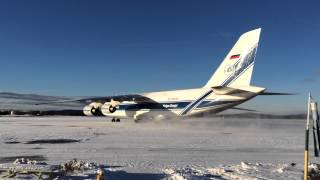 Antonov An-124 Taxing at Goose Bay CYYR