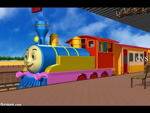 Chuku chuku railu vastundi - 3D Animation Telugu Rhymes for children with lyrics