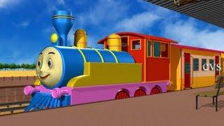 Chuku chuku railu vastundi - 3D Animation Telugu Rhymes for children with lyrics