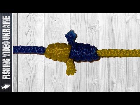 """""""Кровавый узел"""" (Blood knot) Как связать две лески? HD"""