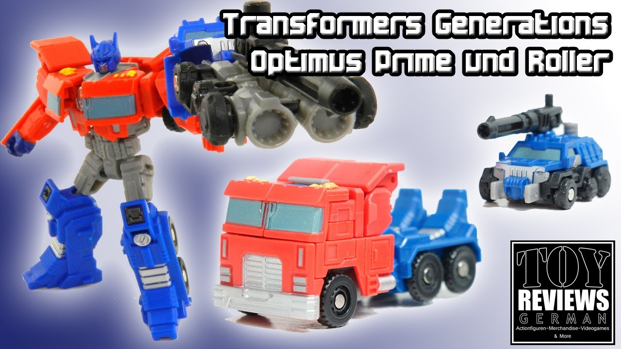 transformers generations optimus prime und roller german review deutsch youtube. Black Bedroom Furniture Sets. Home Design Ideas