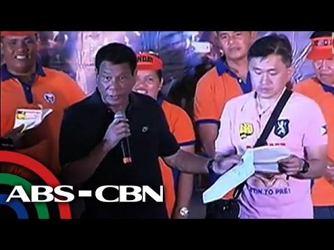 Duterte, isinapubliko ang laman ng bank account