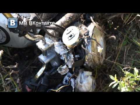 Погоня наркокурьер на мотоцикле 19.09.13 Место происшествия