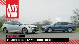 Toyota Corolla vs. Ford Focus - AutoWeek Dubbeltest - English subtitles