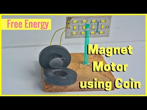 Free Energy Magnet Motor using Coin thumbnail