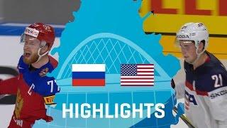 Russia - USA   Highlights   #IIHFWorlds 2017
