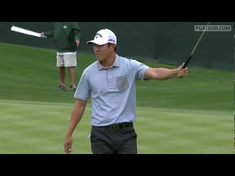 "In the final round of the 2013 Waste Management Phoenix Open, James Hahn makes a 19-foot putt for birdie on the par-3 16th hole and celebrates ""Gangnam Style!"" Subscribe to the channel http://pga."