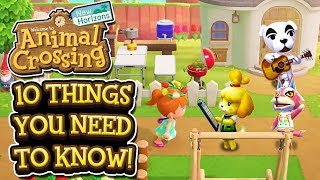 Animal Crossing New Horizons - 10 THINGS YOU NEED TO KNOW!
