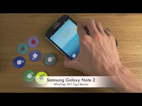 Samsung Galaxy Note 2 - WhizTags NFC Tags Review