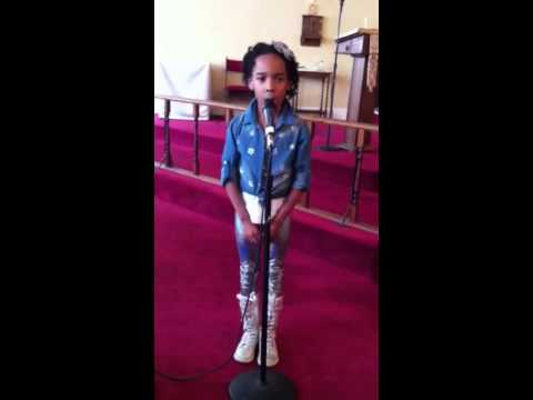Lift Every Voice and Sing performed by 6 year old