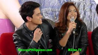 Nadine talks about her kissing scene with James at the Talk Back and Youre Dead Movie Presscon