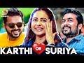 It's Always Karthi For Romance Than Suriya : Why ?   Rakul Preet Singh Explains   Dev Movie