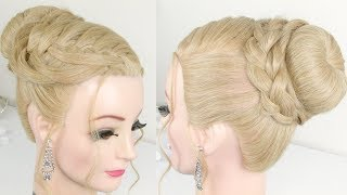 Lace Braided Prom Updo Tutorial