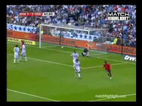 Real Madrid - Osasuna 3-2 02/05/2010 Full Highlights & All Goals Video