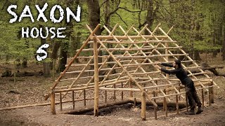 Building a Saxon House (Grubenhaus) with Hand Tools: Bushcraft Project (PART 5)