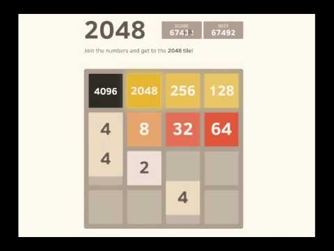 2048 Game high score demo 72k points