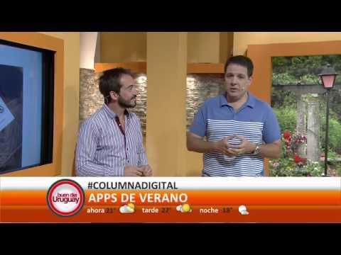 Apps del verano #ColumnaDigital Pablo Buela en Buen Día Uruguay.
