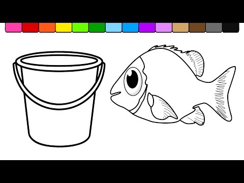 ART CULTURE! SIMPLE FISH DRAWING FOR KIDS ! HD NEW 2018