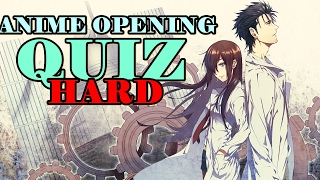 ANIME OPENING QUIZ | LEVEL: HARD | 40 OPENINGS