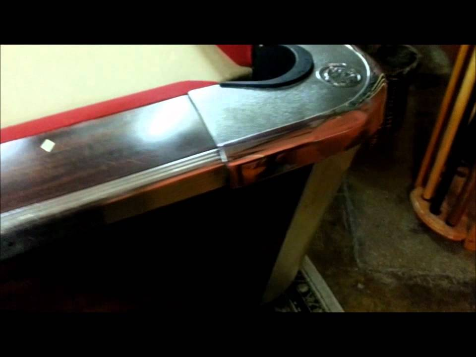 6ft Valley Dynamo Coin Op Pool Table  YouTube -> Table Tv Coin