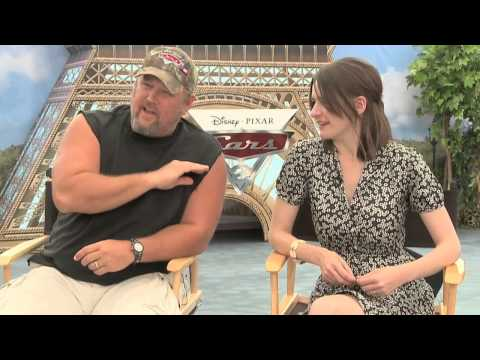 Emily Mortimer and Larry the Cable Guy on Cars 2