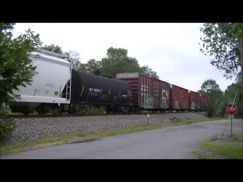 Short Fast Moving CSX Freight Train Johnson Cit