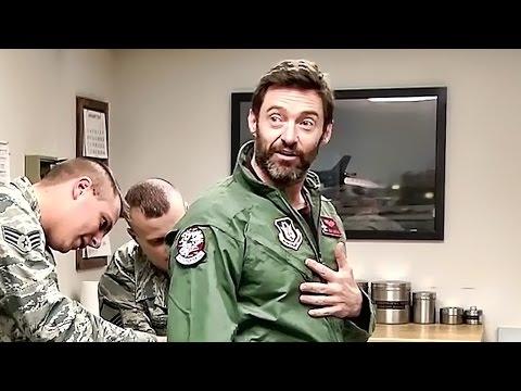 "Hugh Jackman ""Wolverine"" Flies In An F-16 Fighting Falcon"